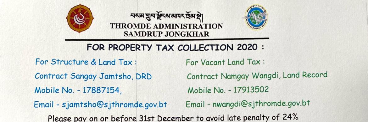 Property Tax Collection 2020